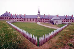 Fort Louisbourg historic site, on Cape Breton