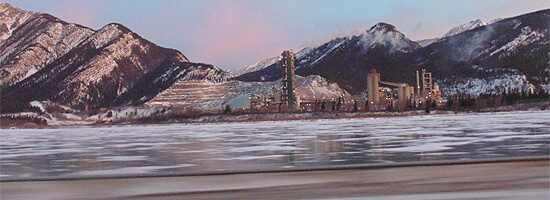 Cement Factory, at Lac Des Arc, Alberta