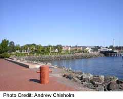 Charlottetown's Confederation Landing ad harbour
