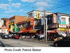 Toronto China Town-Shops Along Dundas