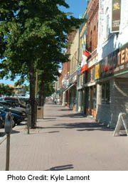 Downtown Collingwood street scene