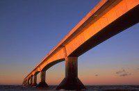 Confederation Bridge, under construction