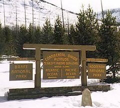 The Continental Divide at the Kicking Horse Pass