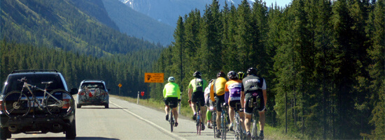 Cycling In A Pack,west of Calgary