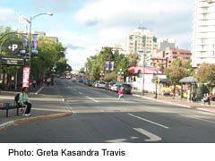 Victoria route along Douglas Street northbound
