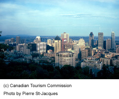 View of Downtown Montréa From Mount Royal