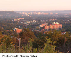 Downtown as seen from the Stoney Creek escarpment