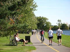 Busy Recreational Pathway around Dow's Lake