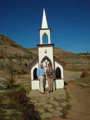Littlest Church near Drumheller