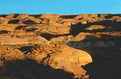 View of Hoodoos at Drumheller