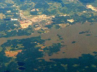 Dryden - aerial view