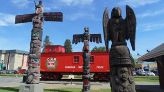 Chemainus's Railway Park and Visitor Info Centre
