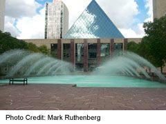 City Hall in downtown Edmonton