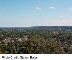 View of/from the Niagara Escarpment at Hamilton