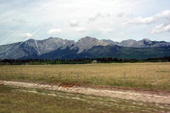 View of Mountains and Foothills from Trans-Canada Highway