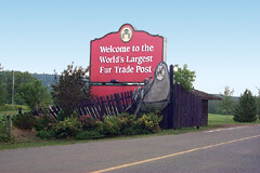 Fort William is the world's largest fur trading post