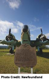 Gande Aviation Memorial, at Gander, Newfoundland