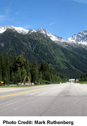 View of the Rogers Pass