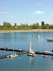 Sailboat docks at Glenmore Park South