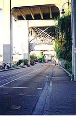 Entrance to Granville Island under the Granville Bridge