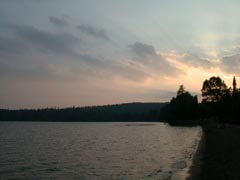 Sunset at Halfway Provincial Park