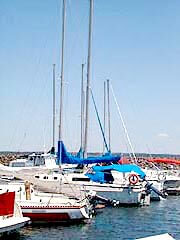 Sailboats in Hilton Beach Marina
