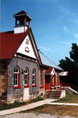 Hilton Beach's old schoolhouse & meeting hall