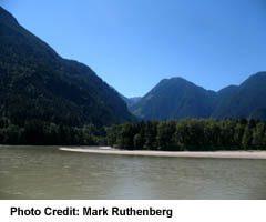 Mountains around Hope, in British Columbia