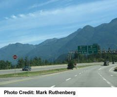 Trans-Canada Highway west of Hope