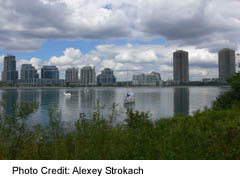 Lakeshore Condos alongside Humber Bay Park