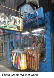 Silk shops in the Gerrard India Bazaar