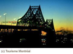 Jacques-Cartier Bridge crossing the St Lawrence in Montreal