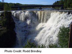 Kakabeka Falls, on the Trans-Canada west of Thunder Bay