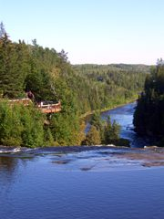 Kaministiqua River was themajor fur-trading route west to Lake of The Woods