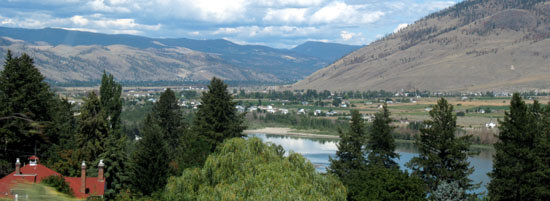 The broad Valley of the Thompson River at Kamloops