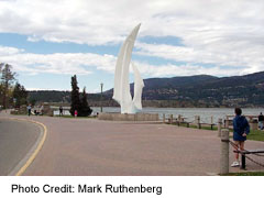 The Sails sculpture at Kelowna's waterfront park