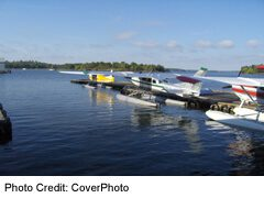 Kenora: Planes at Watson's Air Service docks, get travellers to area camps and fly fishing lake