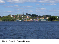 Kenora downtown From Lake Of The Woods