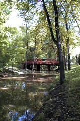 Kildonan Park along Selkirk Creek, west of downtown