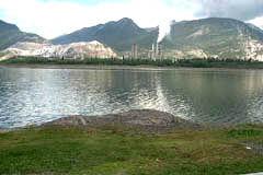 Lac Des Arc: LafFrge cement factory
