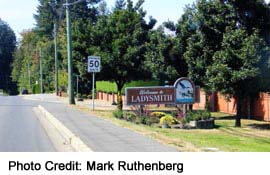 Ladysmith Town Sign