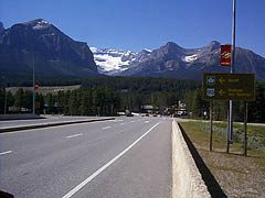View of Trans-Canada at Lake Louise