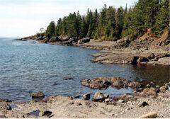 Rugged coastline of Lake Superior
