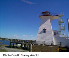 Fredericton's lighthouse on the St John River