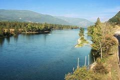 Little River joins the two Shuswap Lakes
