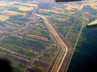 Winnipeg Floodway, as seen form overhead