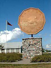 Loonie Memorial in Echo Bay