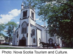 Old church in Lunenburg, Nova Scotia
