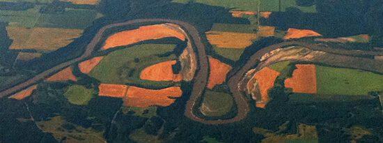 Lush farmlands along the Assiniboine, west of Winnipeg