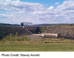 Mactaquac Dam, west of Fredericton